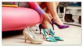 Примерка туфель.