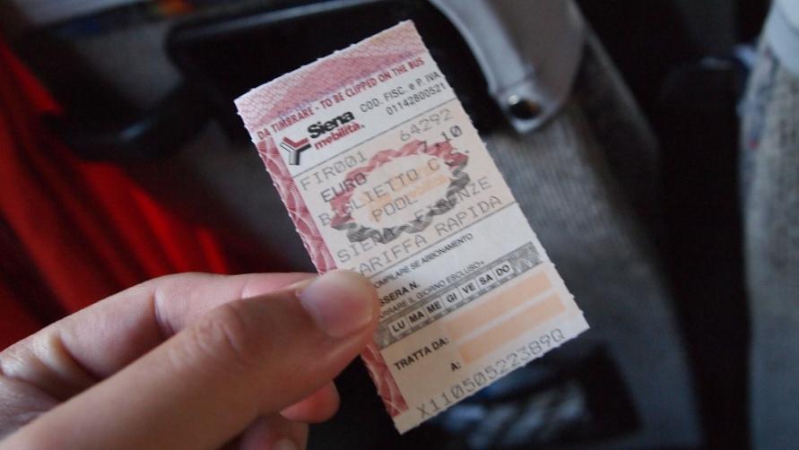 Билет из Сиены.