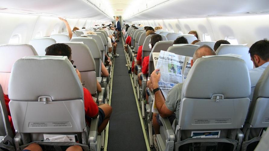 Летим в самолете.