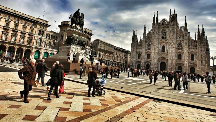 Площадь в Милане.