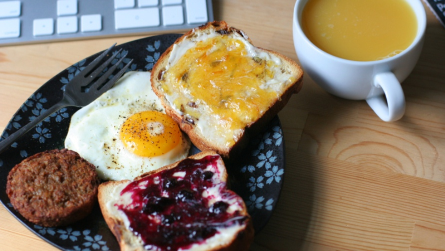 Вкусный завтрак.