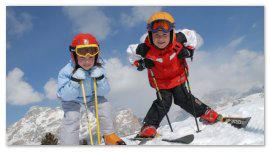 Дети-лыжники