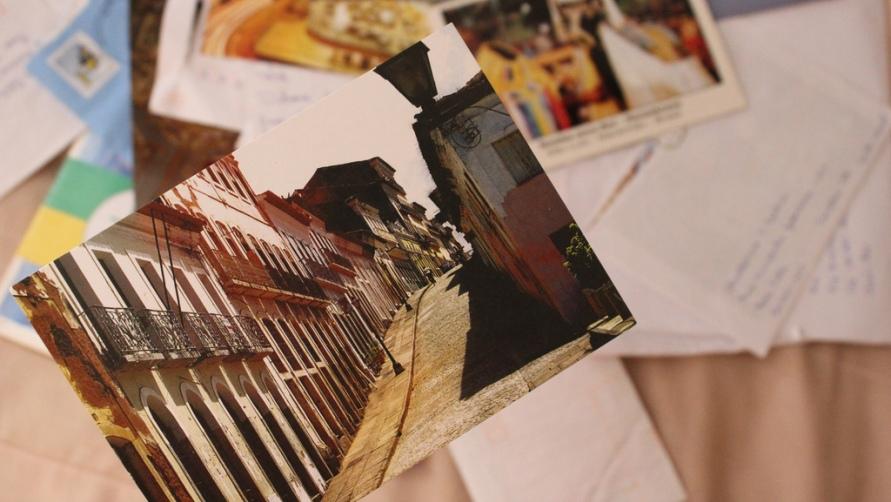 Рассматриваем открытки.