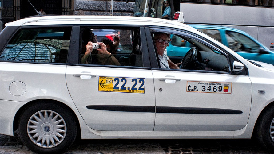 На такси