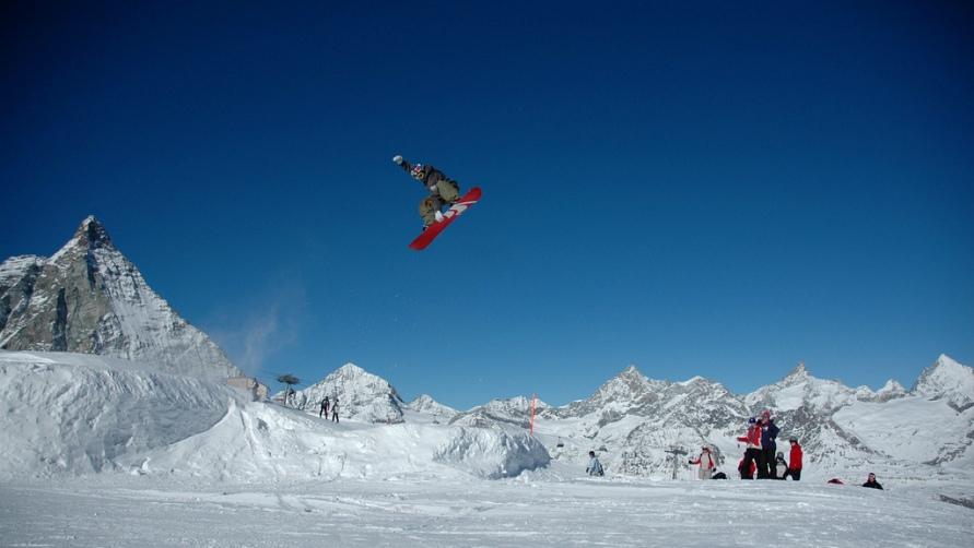 Сноубордист.