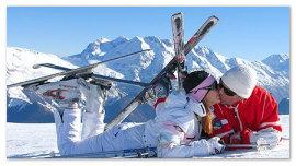 Влюбленные горнолыжники