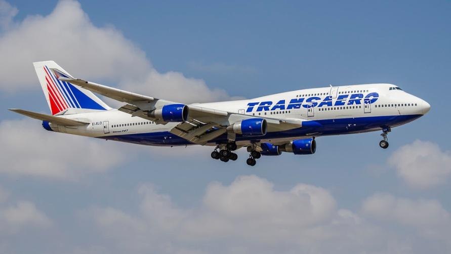 Самолет Трансаэро.