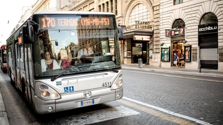 Автобус в городе