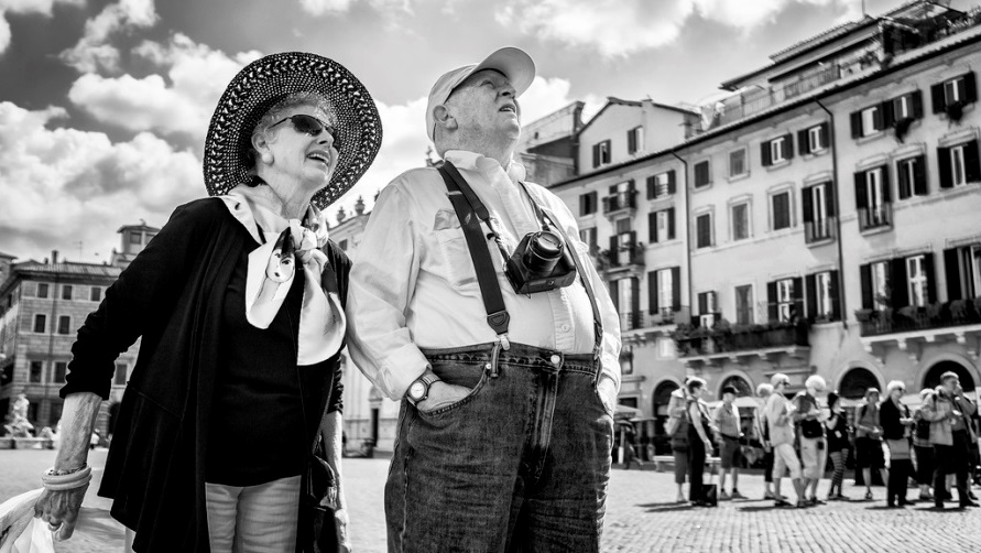 Пенсионеры в Риме