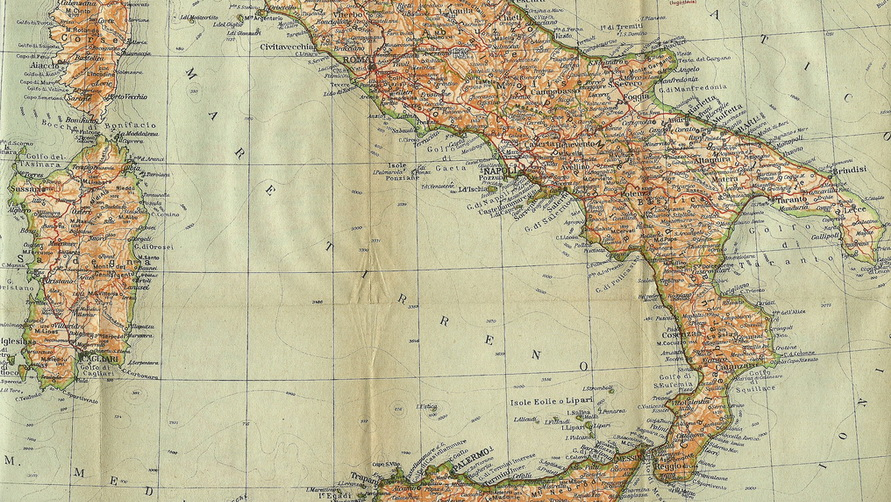 Карта Италии.