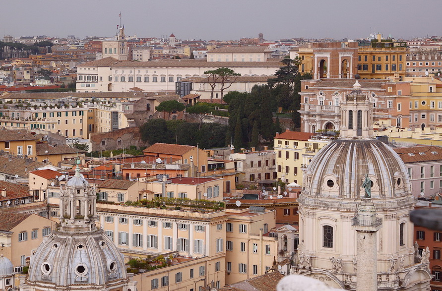 Вид на Рим с обзорной площадки Витториано.