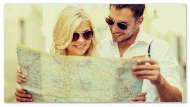 Девушка и парень с картой