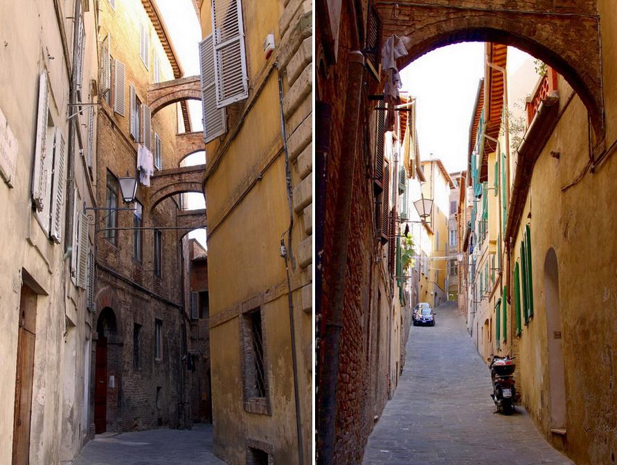 Улицы средневековой Сиены.