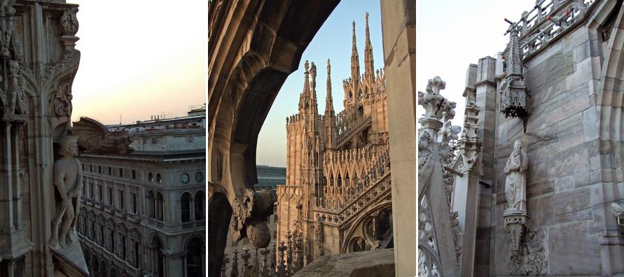 Несколько фотографий с крыши Дуомо.
