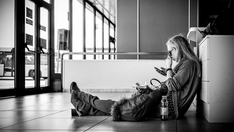 Девушка в торговом центре
