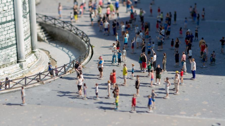 Толпа туристов.