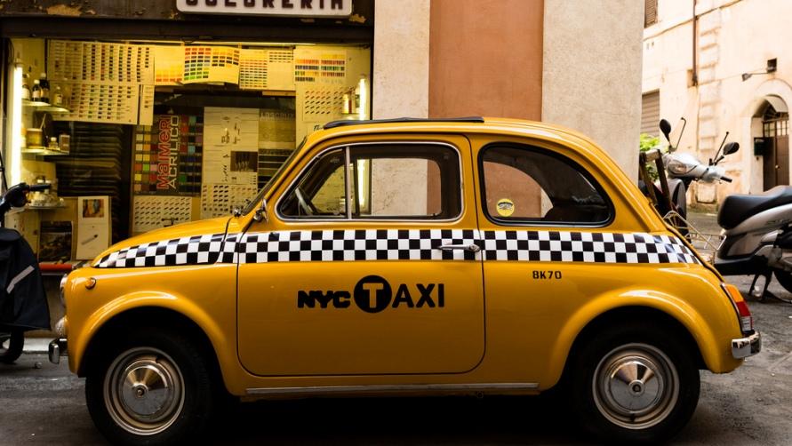 Желтое такси.