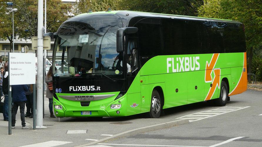 Как добраться на автобусе Flixbus из Парижа в Милан.