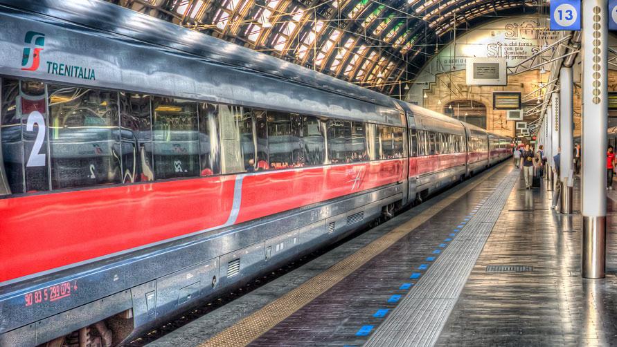 Из Италии во Франция на поезде.