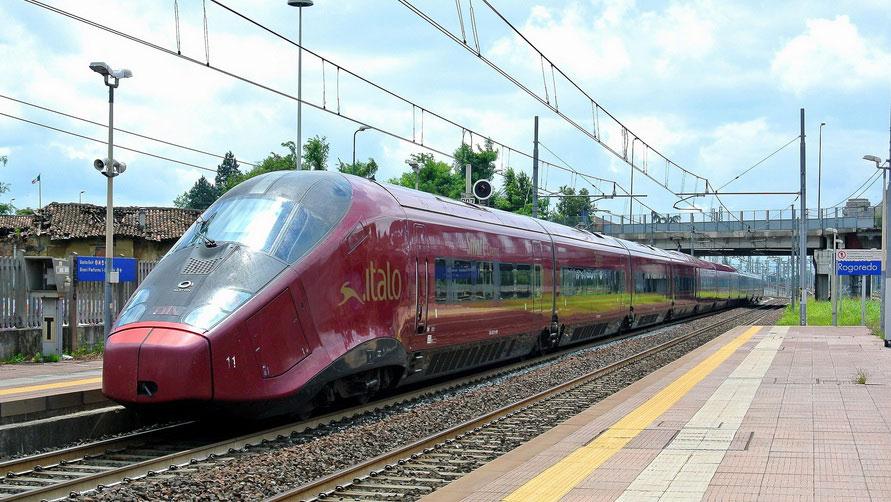 Рейс скоростного состава Italo.