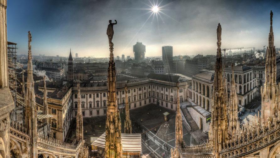Достопримечательности Милана на карте.
