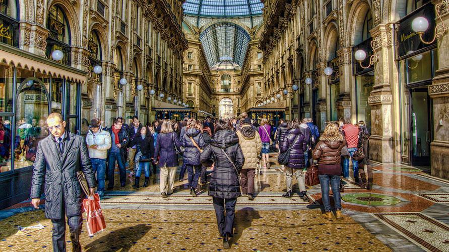 Магазины в Милане.