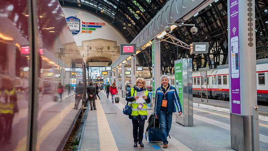 Скоростной поезд из Рима в Верону.