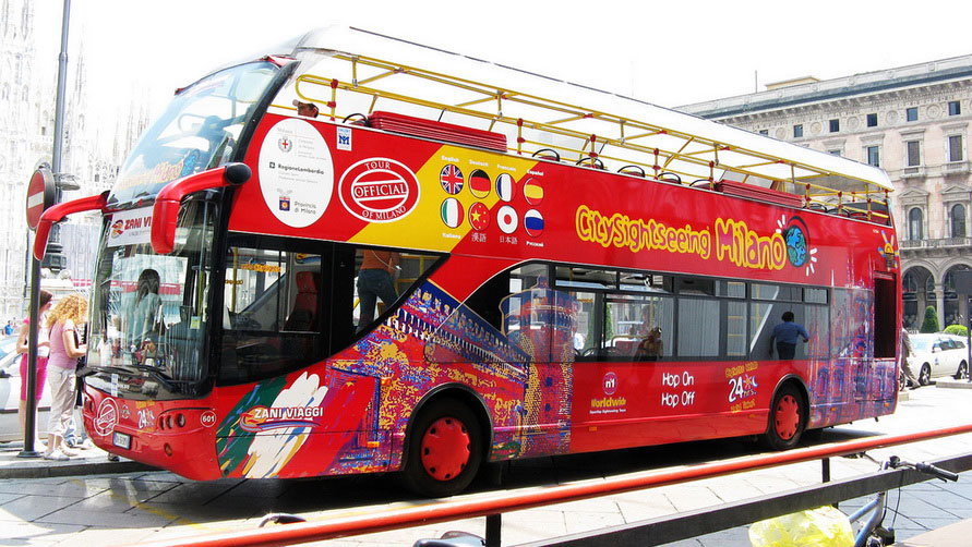 Миланский туристический автобус.