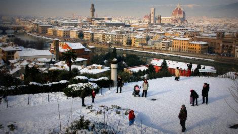 Январь во Флоренции.