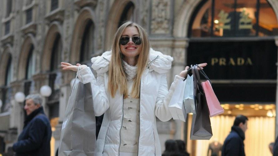 Покупки в торговом центре.